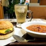 エリックス・ハンバーガーショップ - ポパイチーズメルトセット