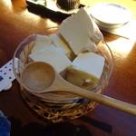 おたる政寿司 ぜん庵 - 自家製豆腐(550円)