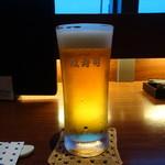 おたる政寿司 ぜん庵 - 生ビール(600円)