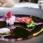 ちゅらぬうじ - ☆蛸、紅芋のエスプーマ
