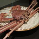 日本料理 TOBIUME - この日の主役!タグ付き加能蟹