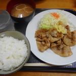 笑姜や - 生姜焼き定食~おろしポン酢~¥580-