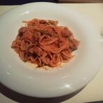 89311261 - サルシッチャと甘長ピーマンのトマトソース スパゲッティ