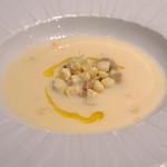 89318155 - ホワイトコーンのスープとサマーポルチーニのスープ