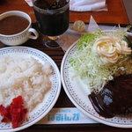 ぽあんか - 料理写真:ハンバーグセット(980円)