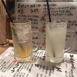 89321574 - 柚子ハイボールとゆず酒のソーダ割り