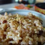 いろり じねん - 魚沼ですから!コシヒカリの玄米ご飯
