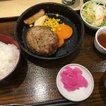 Kakunoshin - 金格ハンバーグ定食 1380円