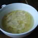 タナカクマキチ。 - スープ(溶き卵のコンソメスープ)