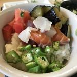 89324175 - 海鮮と夏野菜の丼ぶり
