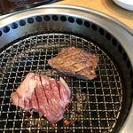 焼肉トラジ - ハラミをじゅ〜♪