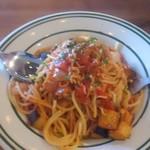 89327816 - シラスと夏野菜のトマトソースパスタ