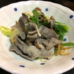 喜来楽 - センマイのネギ生姜炒め