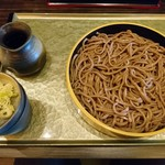 そば処 千家 - ざるそば(田舎太麺)(700円)