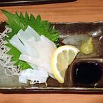 日本酒の店 はなきん - アオリイカ刺身 480円