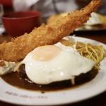 キッチン パンチ - ハンバーグ目玉焼き付き 海老フライのっけ