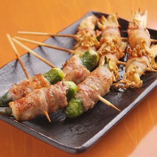 九州で採れる旬の野菜を使った串焼きもお楽しみ頂けます。