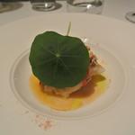 リストランテ カノフィーロ - シマゾイのアルフォルノ 花咲ガニとトマト バジリコのケッカソース
