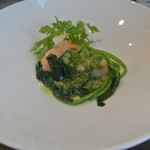 アキヒサ ハンダ - 羅臼産トキシラズ 海藻バターソース