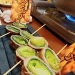 福島壱麺 - 多呼おどりのキャベツ肉巻き