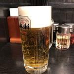 喜多方ラーメン 坂内 - 生ビール中520円