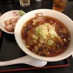 喜多方ラーメン 坂内 - 和風冷やしラーメン750円