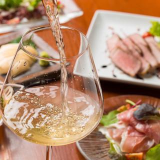 炭焼A5ランク和牛・焼鶏とワイン・日本酒のマリアージュを。