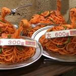 スパゲッティーのパンチョ - 【再訪】店頭の見本