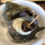 伊東ホテル聚楽 - 料理写真:【2018.7.9】サザエの壺焼き。