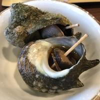 伊東ホテル聚楽-【2018.7.9】サザエの壺焼き。