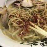 麺屋 丈六 - 唐辛子で味変