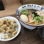 らーめん砦 - 海老潮・丼セット(1100円)