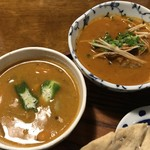 月と亀 - あさりカレーと旬の野菜カレー