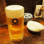 煮こみ - 生ビール & 大根の付き出し