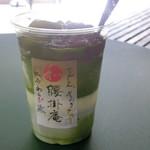 腰掛庵 - 料理写真:抹茶わらび氷
