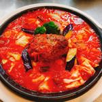 ゴロゴロ野菜のトマトソース