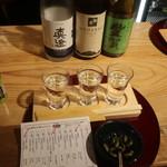 信州くらうど - 日本酒利き酒セット