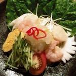 中国薬膳料理 星福 - 海鮮冷麺