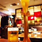 A&K ビア&フードステーション - 『ヤードビール』にしました。 グラスの高さが45センチあるらしいです。