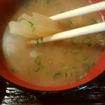 きわ美鶏 恵比寿 - 味噌汁