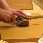鮨 水谷 - 蒸し鮑