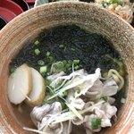 Sanchoumenoshimasobaya - アーサそば 690円(小)