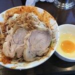 麺屋 歩夢 - 【2018.7.10】辛い小汁なし¥950