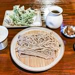 雪むろそば家 小さな空 - 「十割蕎麦+山菜天婦羅」(2018.07)