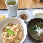 タローちゃん食堂 - おこわ的なランチ¥700