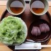 Akafuku - 料理写真:赤福氷520円と赤福盆210円