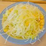松屋 - ごろごろチキンカレー大盛野菜セット(サラダ)