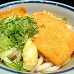 門左衛門 麺・串 - 冷やしぶっかけうどん 320円 トッピング・きつね 60円