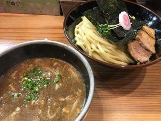 銀座 朧月 - 濃厚煮干つけ麺 中盛り 半チャーシュートッピング