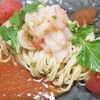 アンジェラ - 料理写真:2018冷製パスタ第1弾!赤エビのカルパッチョとトマトマリネ